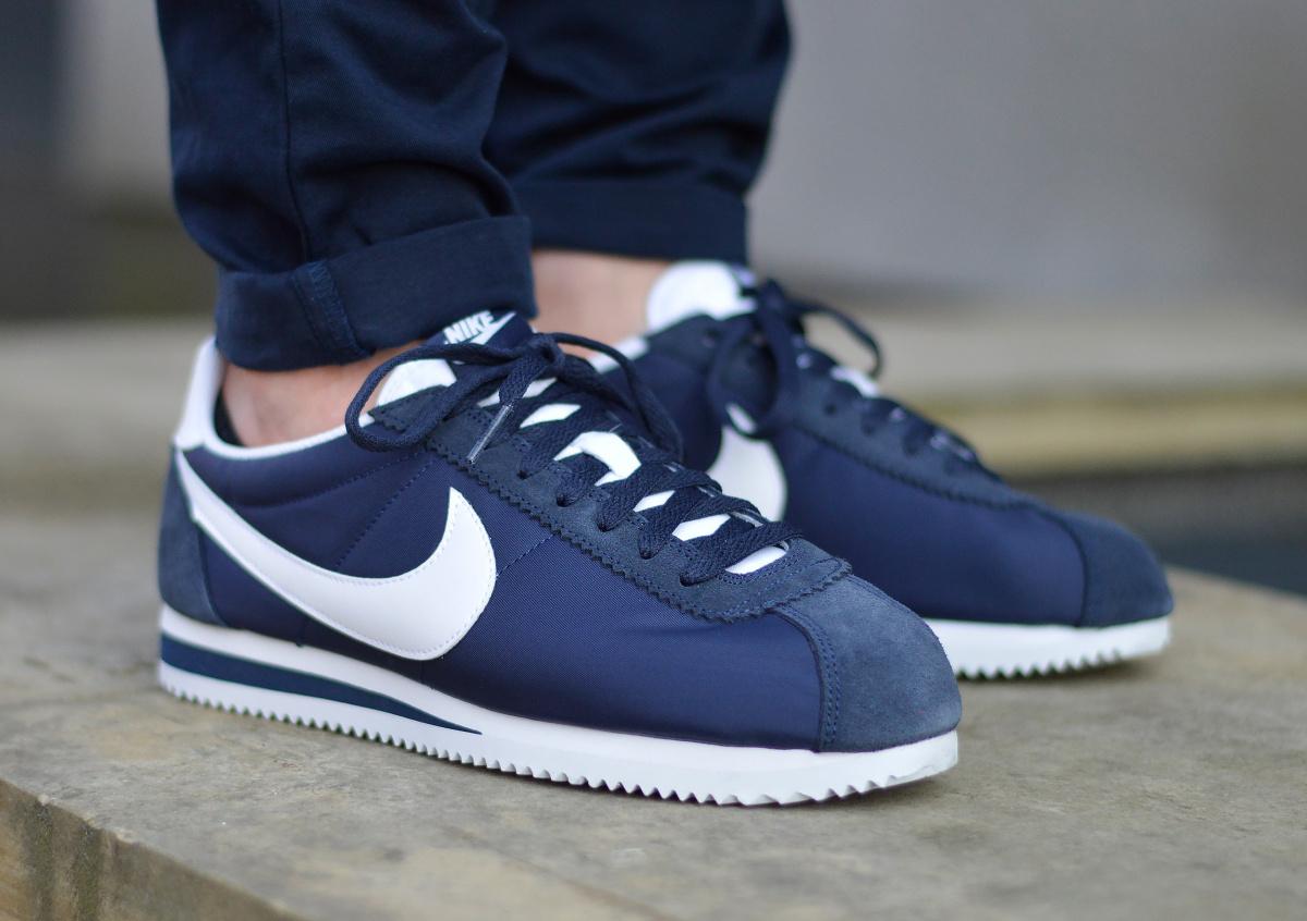 Détails sur Nike Classic Cortez Nylon 807472 410 Chaussures Hommes